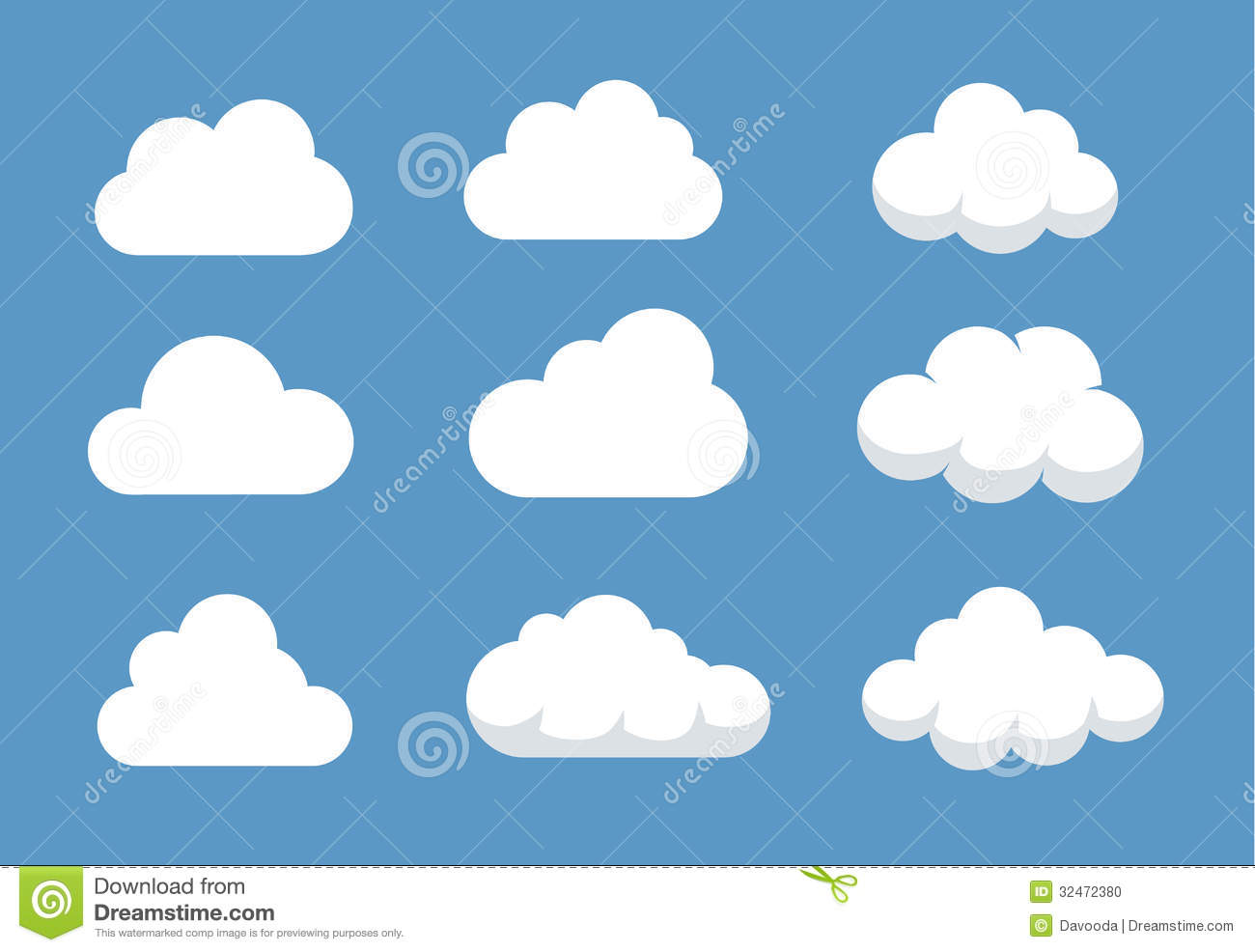 Different Cloud Shapes Stock Photo - Image: 32472380