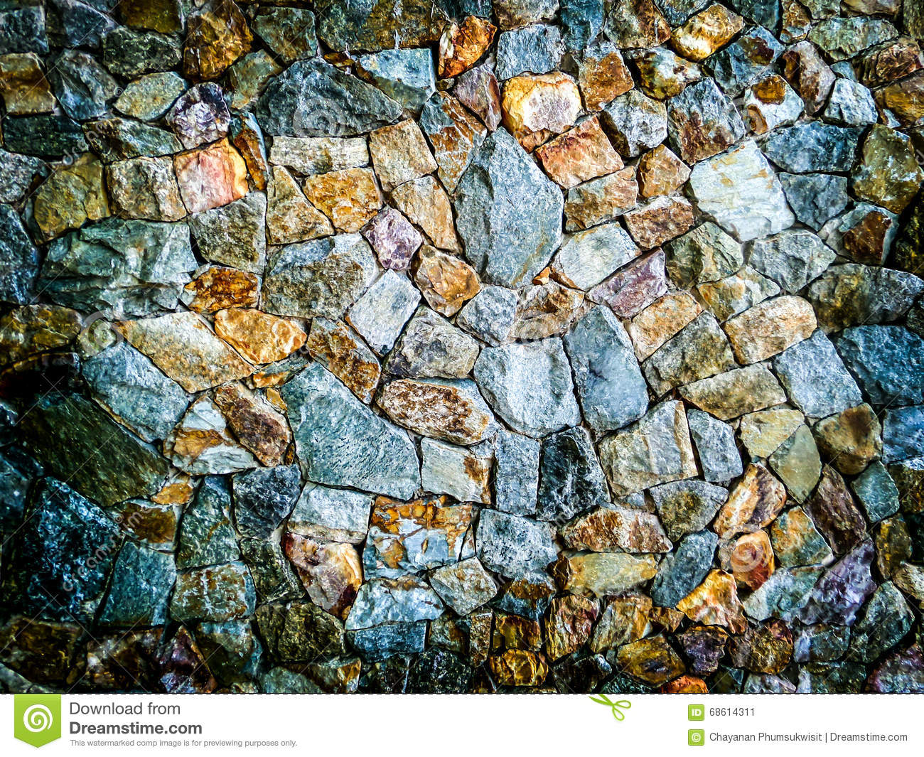 Different Color Of Granite Stone Wall Background Stock Image Image