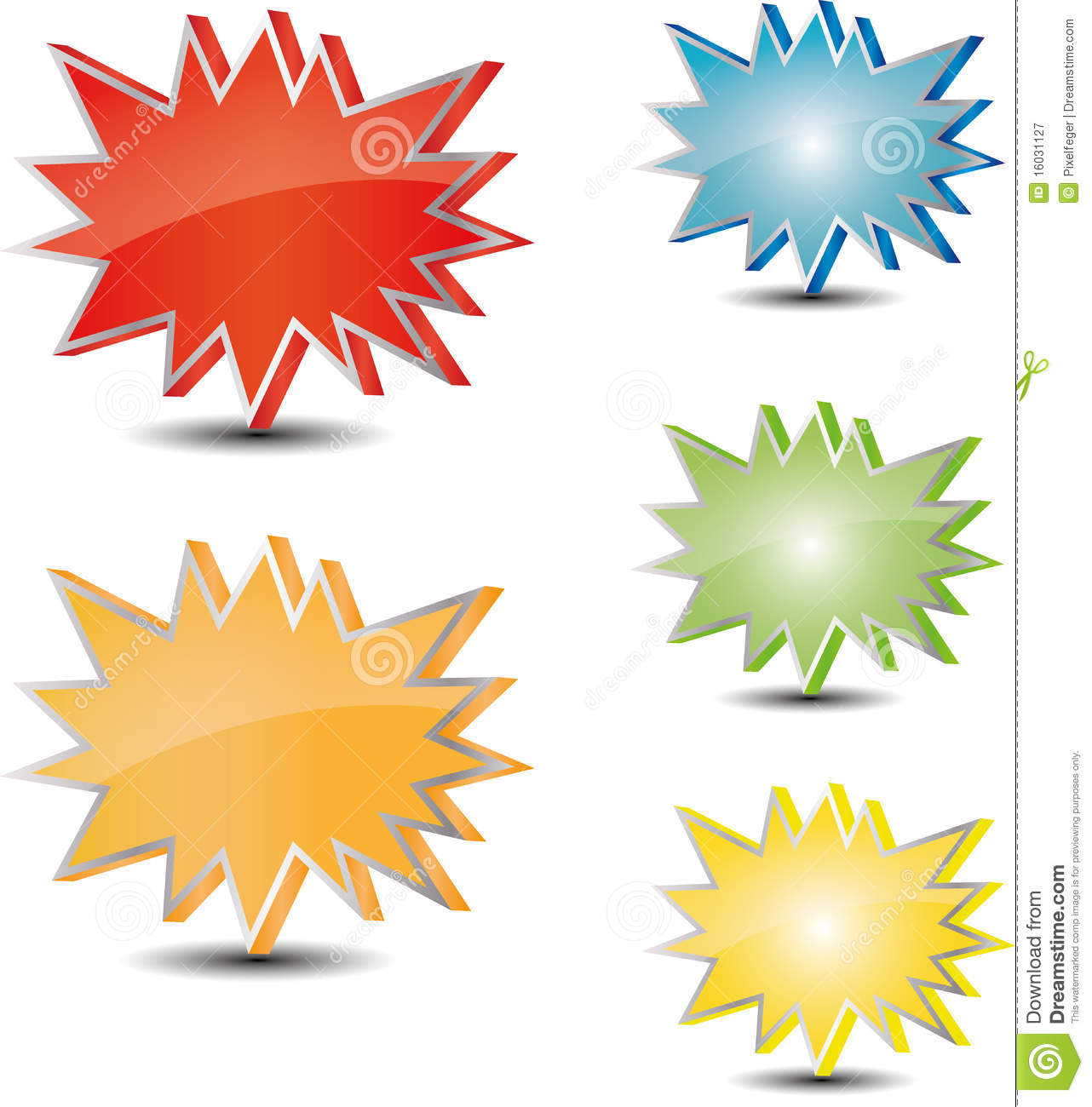 different color star tag stock vector  illustration of