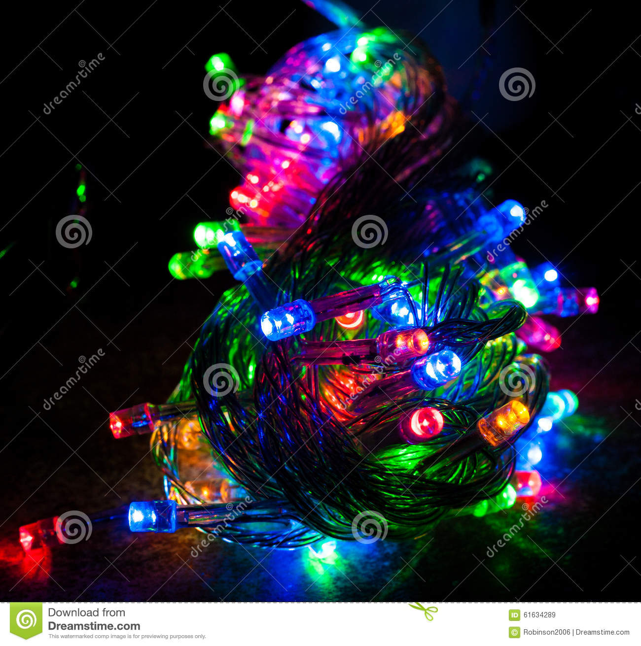 Led Christmas Lights Colors.Different Colored Christmas Lights Stock Image Image Of