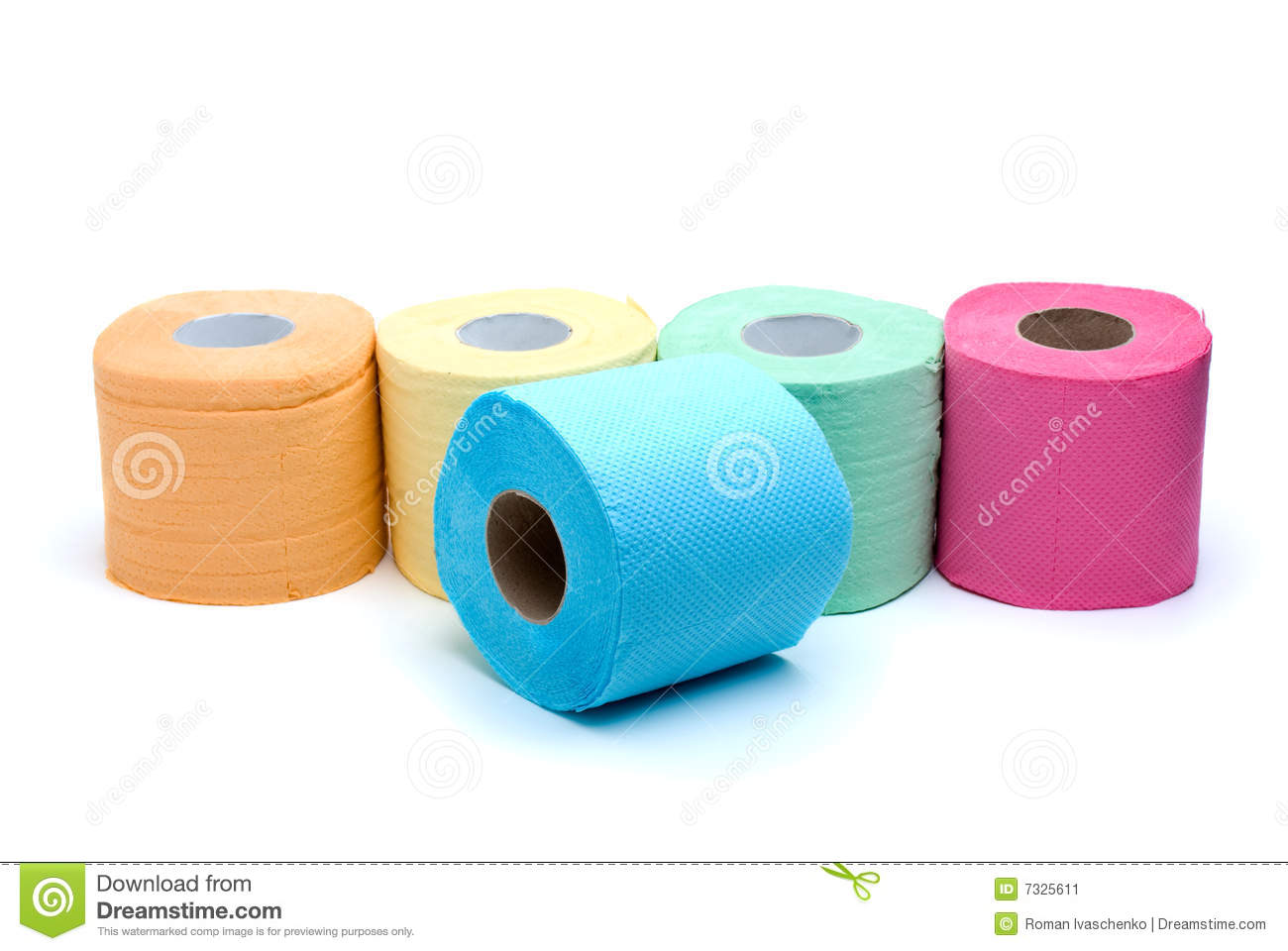 different colored toilet paper stock image image 7325611
