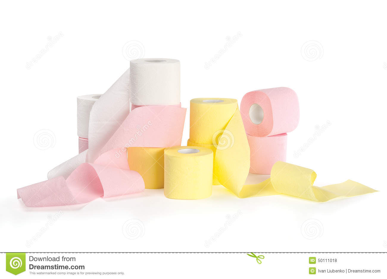 Different Colored Toilet Paper Stock Photo - Image of roll, orange ...