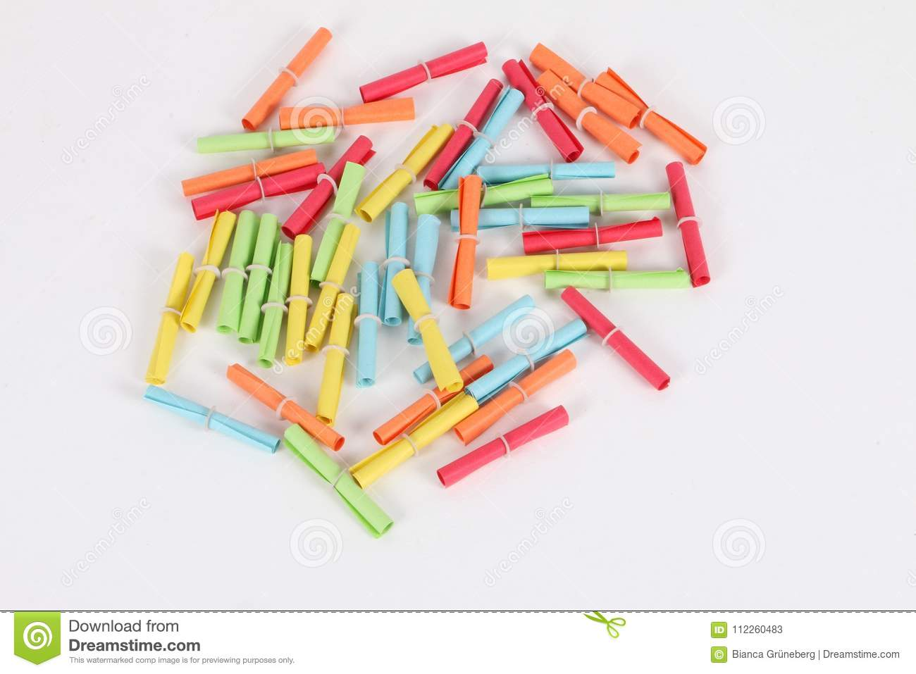 different colorful tombola tickets inthe studio stock image image
