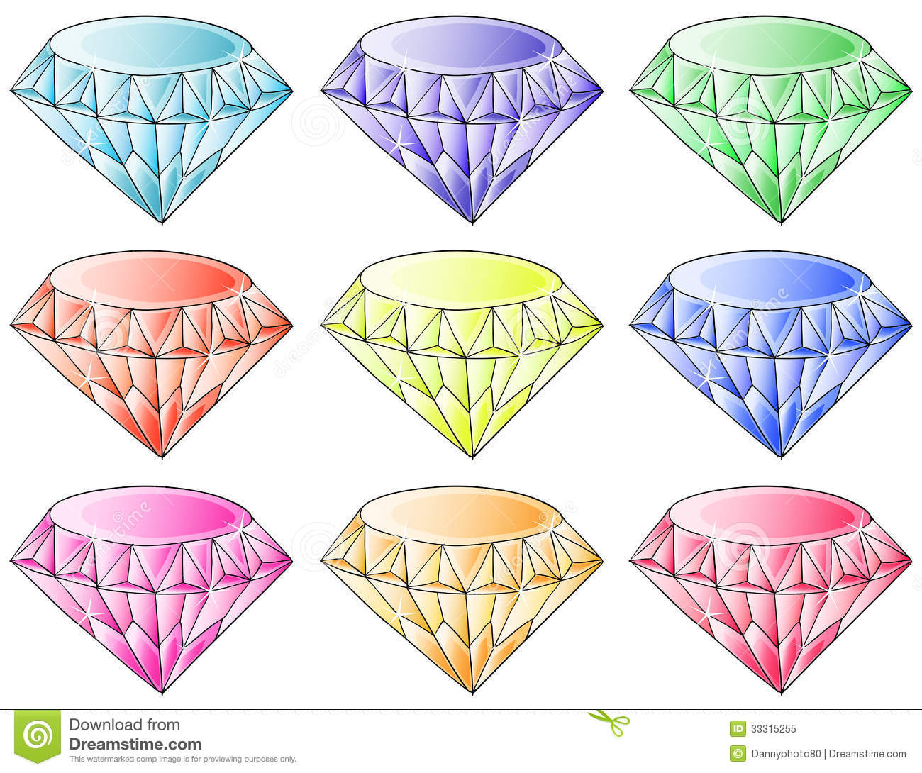 Different Colors Of Diamonds Royalty Free Stock Photo - Image ...