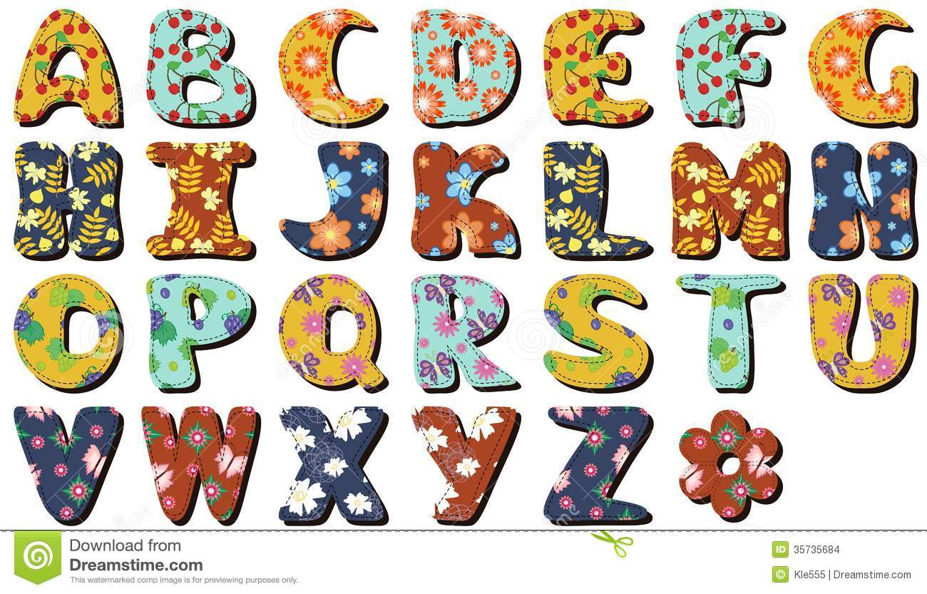 Different Colors Letters Scrapbook Stock Images - Image: 35735684