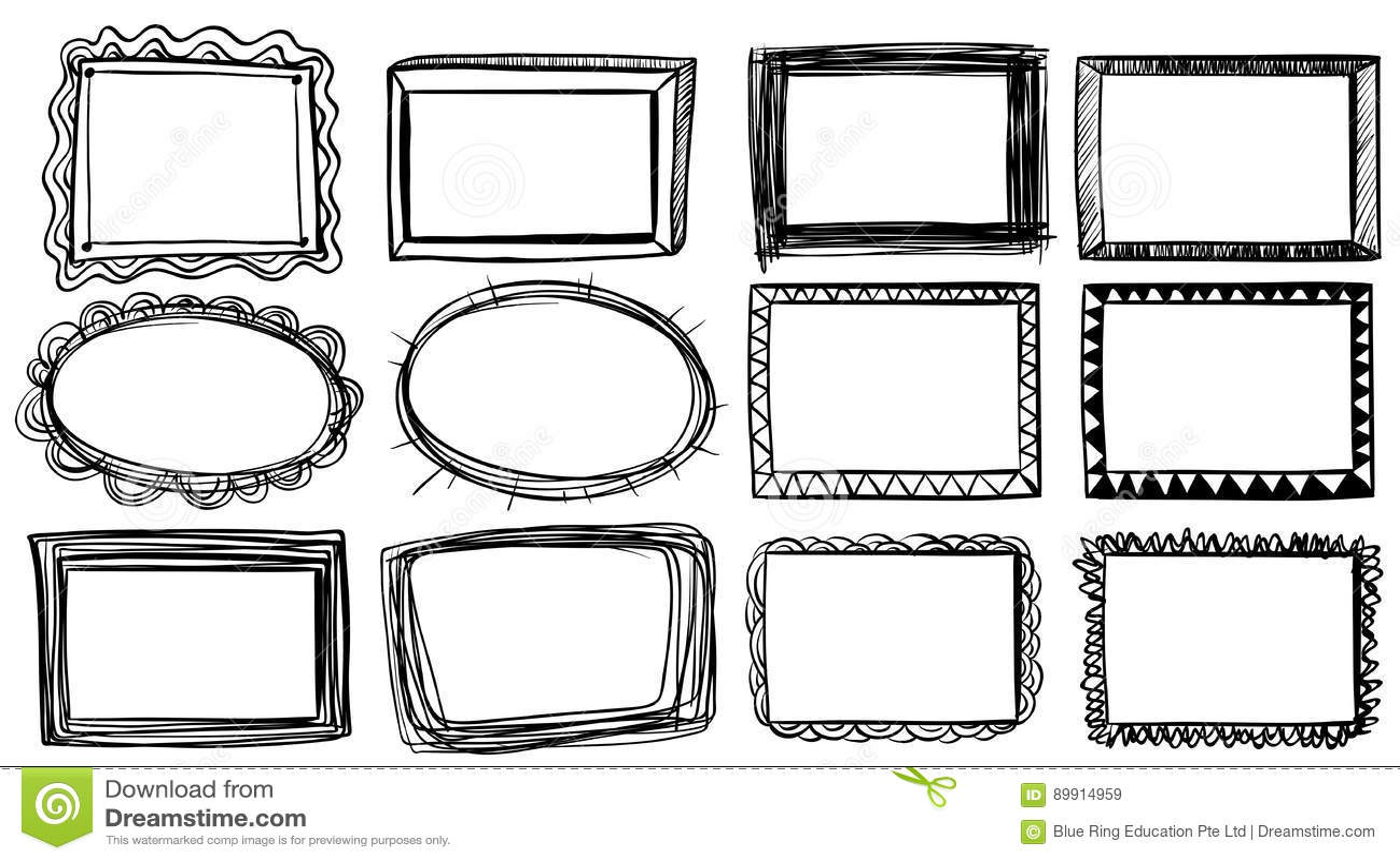 Different Designs For Frames Stock Vector - Illustration of ...