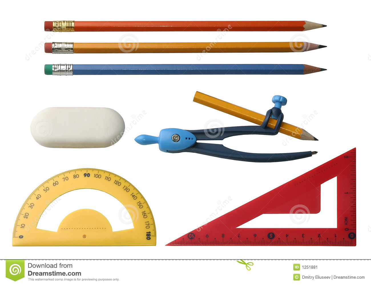 Different Drawing Tools Stock Image Image 1251881