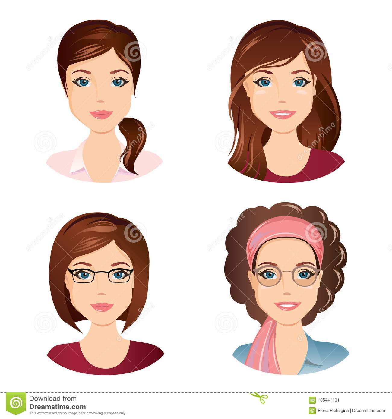 adult hairstyles Young women
