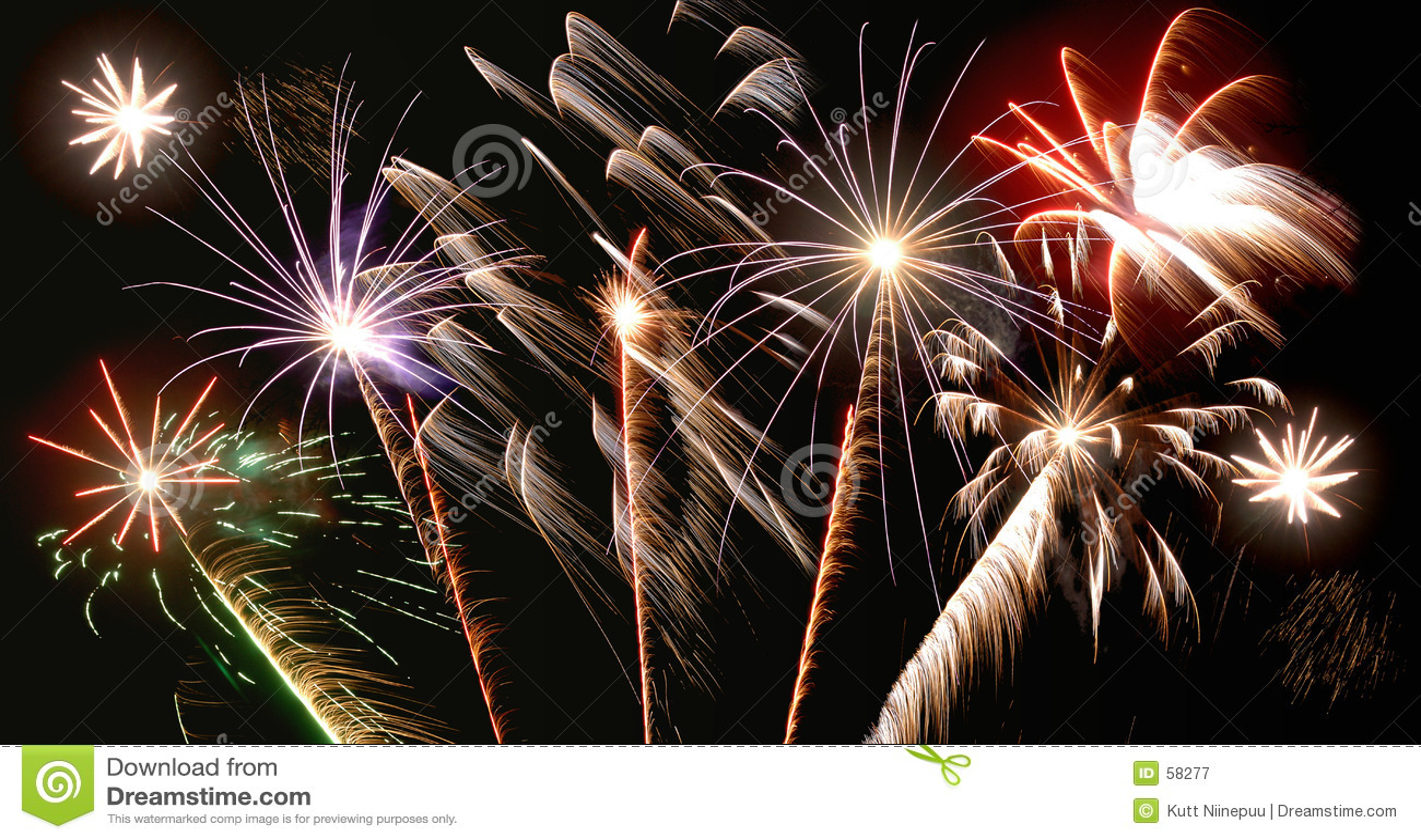 Different fireworks