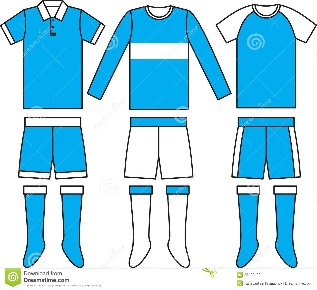 Different Football Soccer Uniforms. Vector Royalty Free Stock Images ...