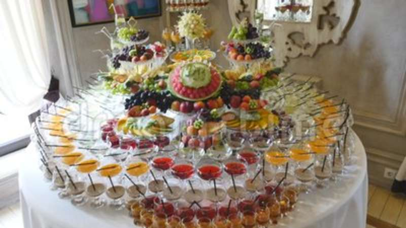 Different Fresh Fruits On Wedding Buffet Table Fruits And Berries