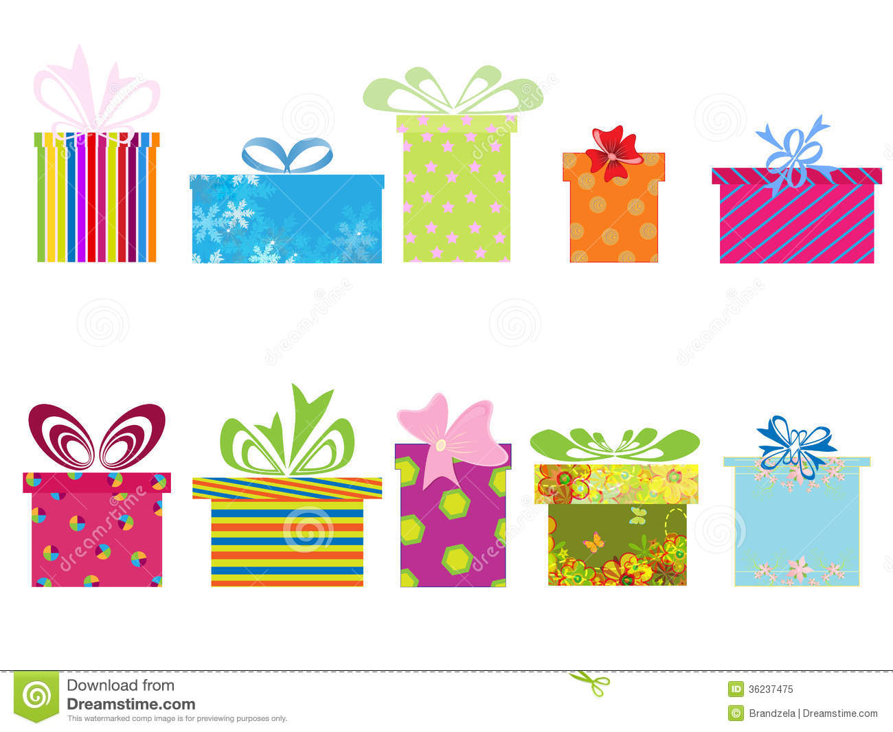 different gift boxes stock vector illustration of cute 36237475