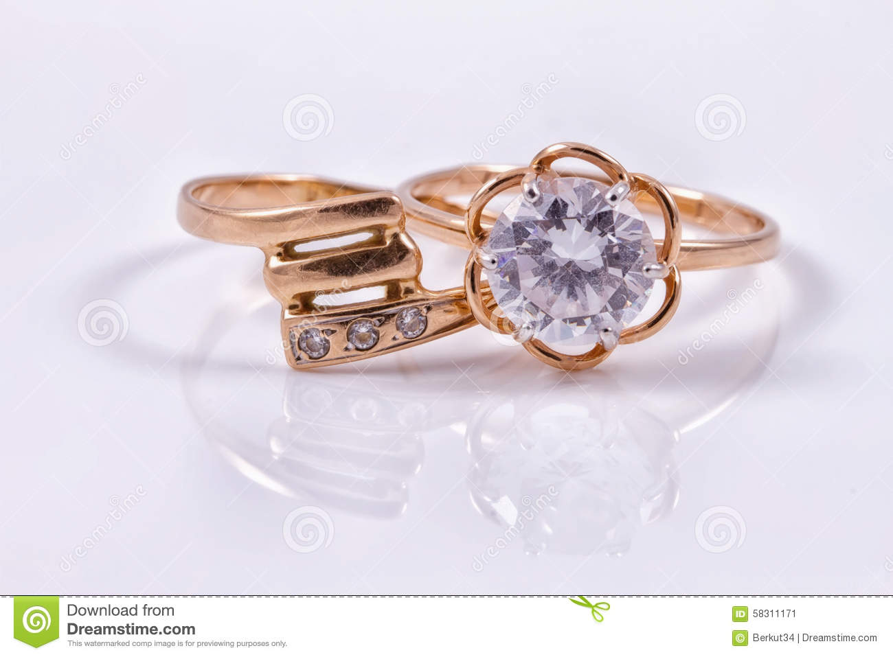 Different a gold rings stock image. Image of attractive - 58311171