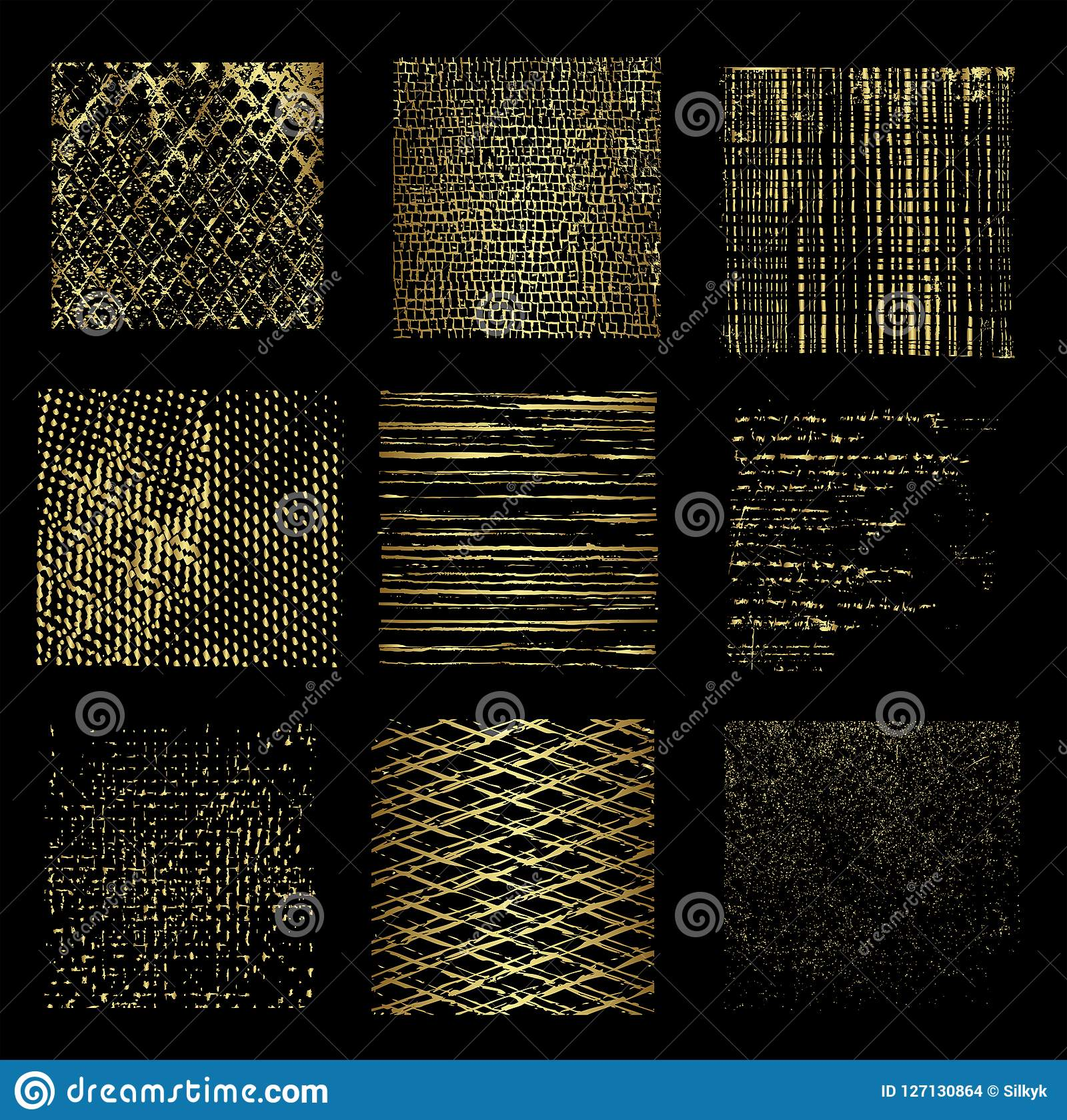 Different golden backgrounds, vector