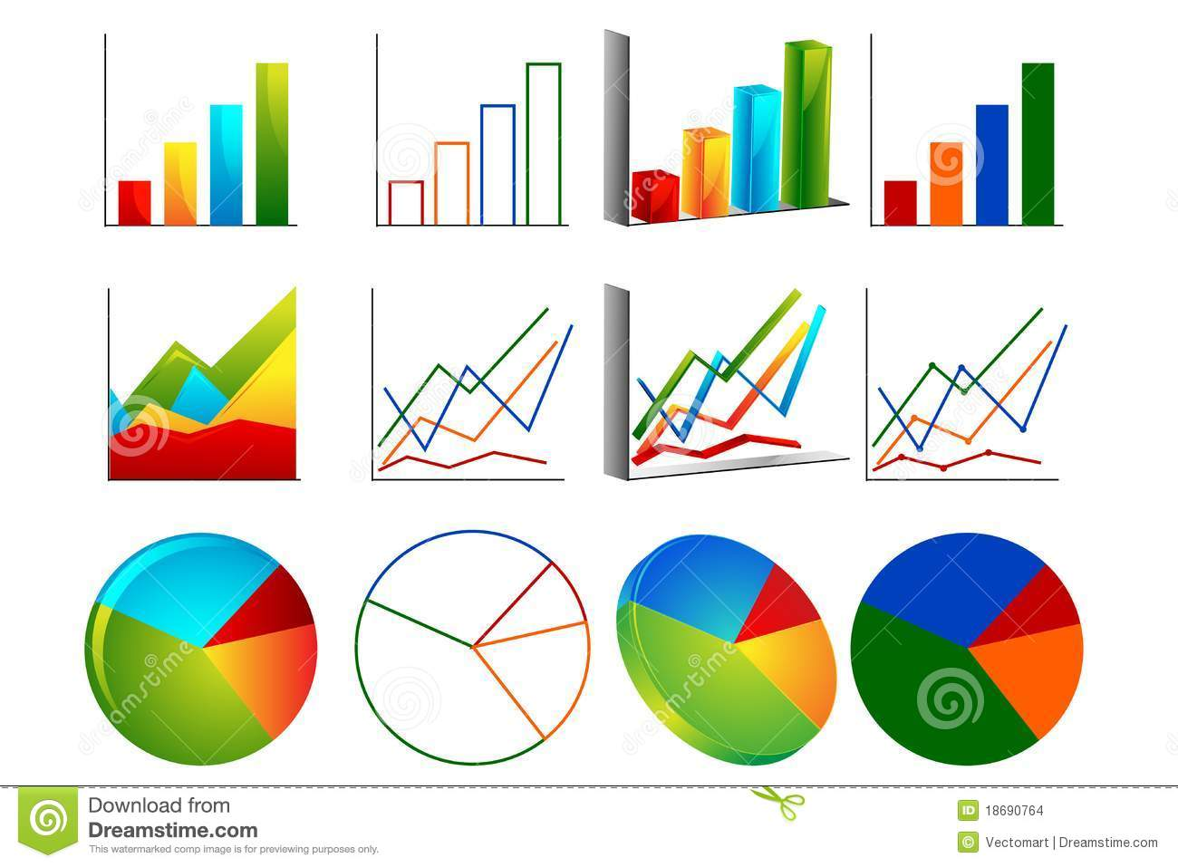 different graph stock vector. illustration of professional - 18690764