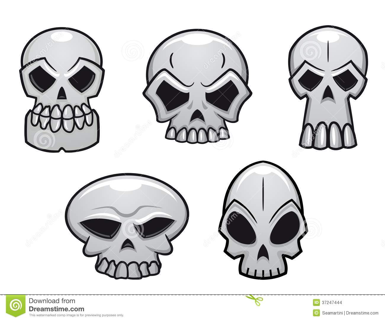 different human skulls for halloween stock images - Halloween Skulls