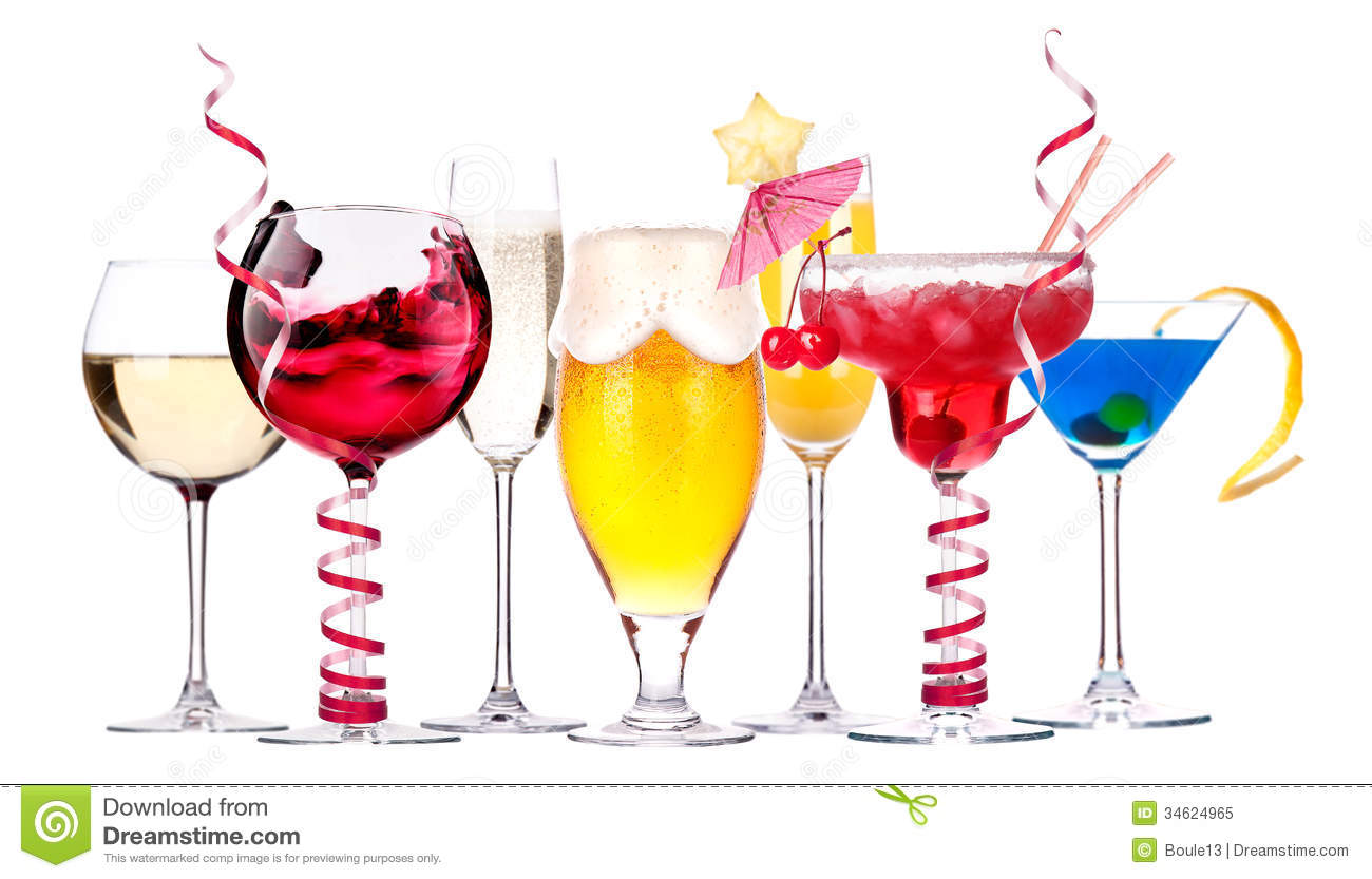 Different Images Of Alcohol Isolated Stock Image - Image ...