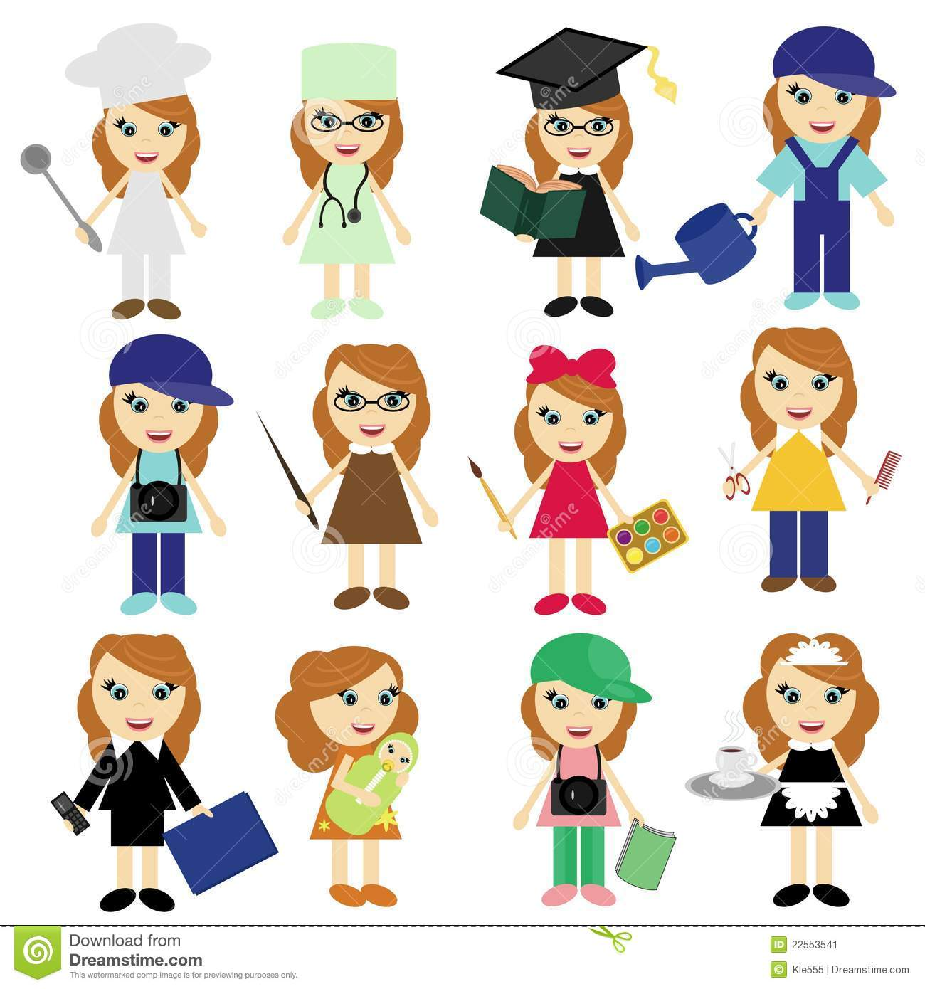 What are the professions for girls