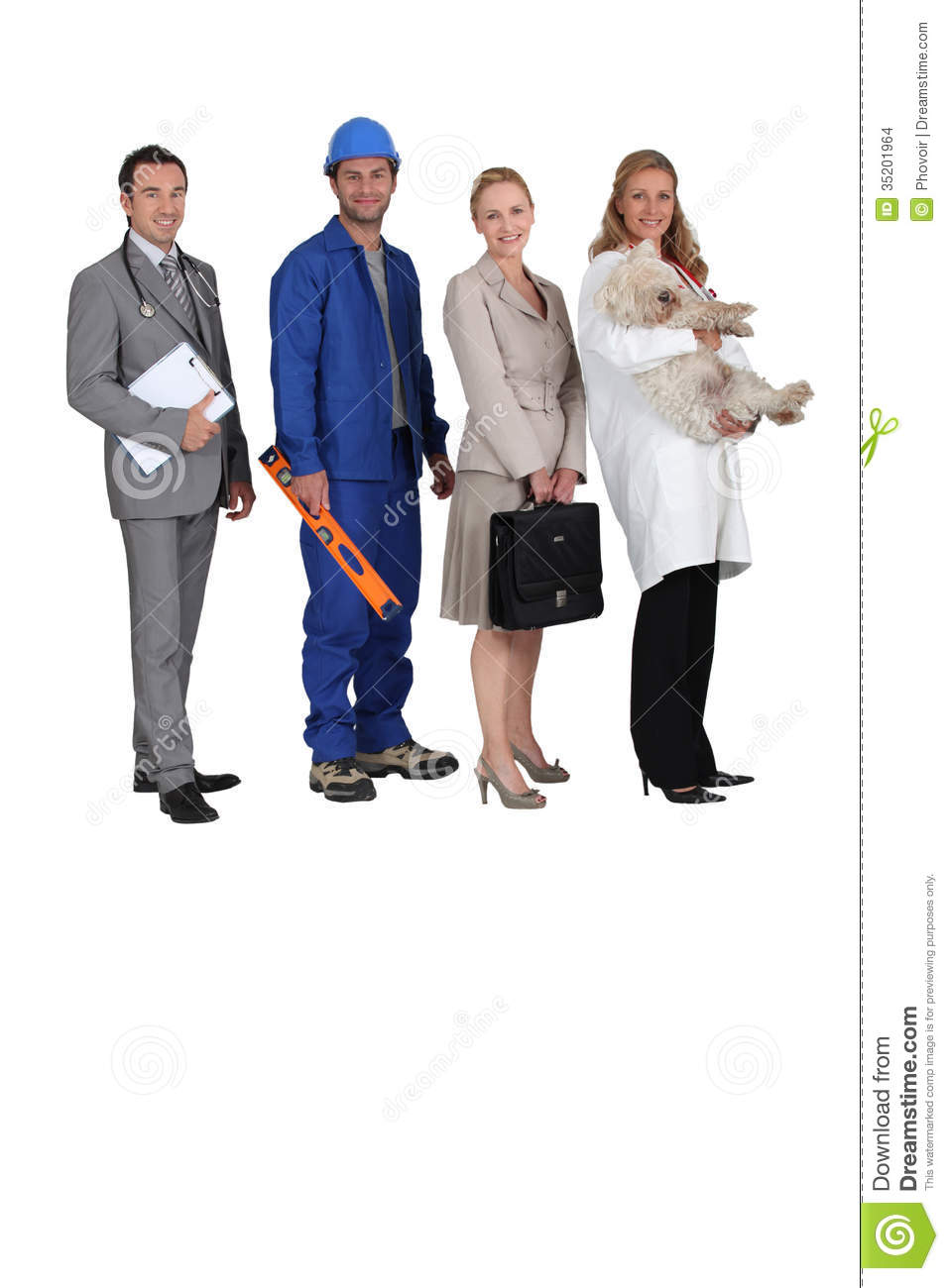 People Occupations Jobs And Community At: Different Jobs Stock Photo. Image Of Smiling, 34, Activity
