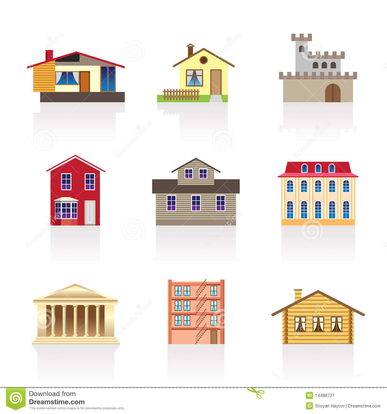 Surprising Different Kind Of Houses And Buildings 1 Royalty Free Stock Largest Home Design Picture Inspirations Pitcheantrous