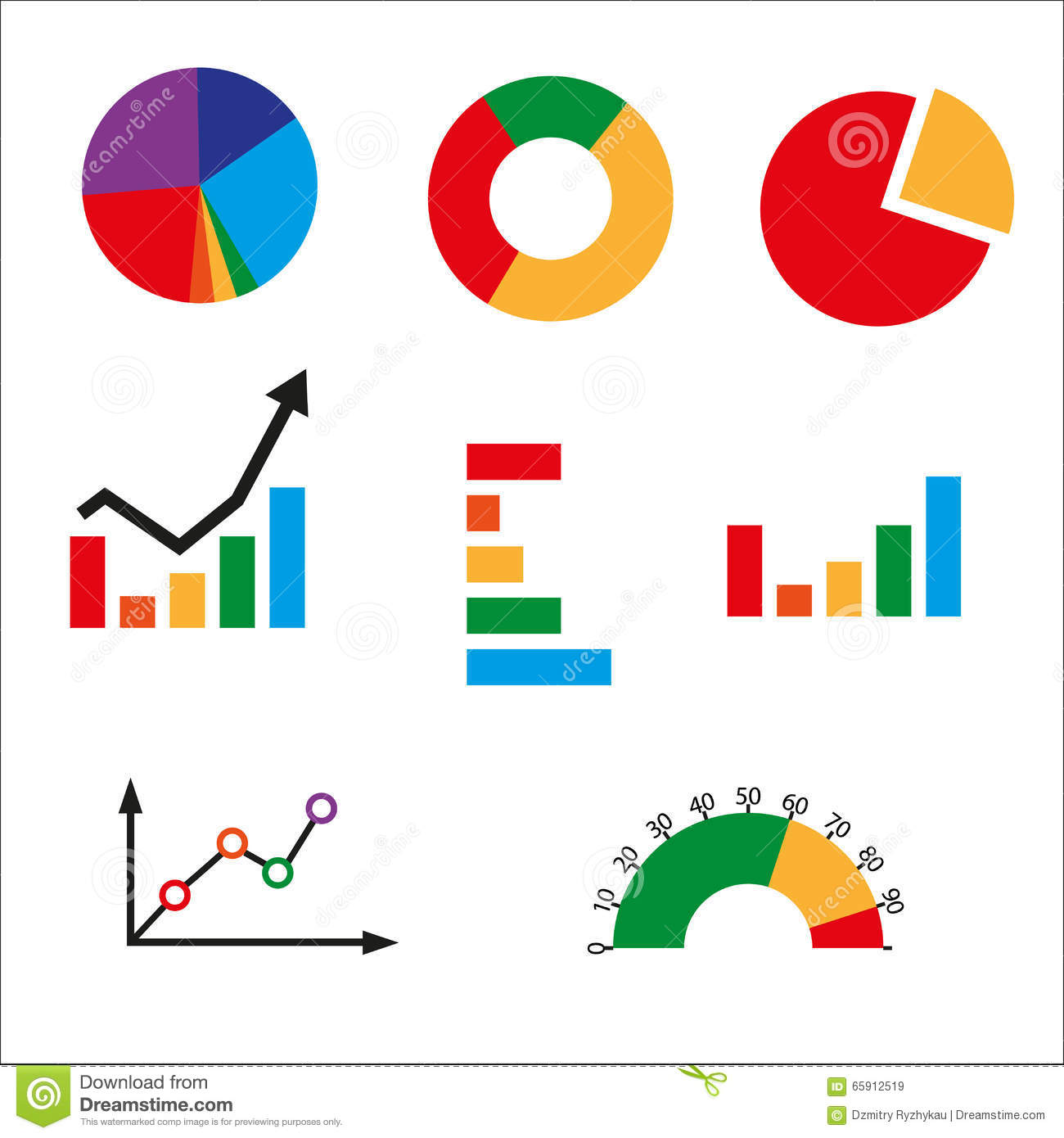 Different Kinds Of Business Charts Stock Illustration