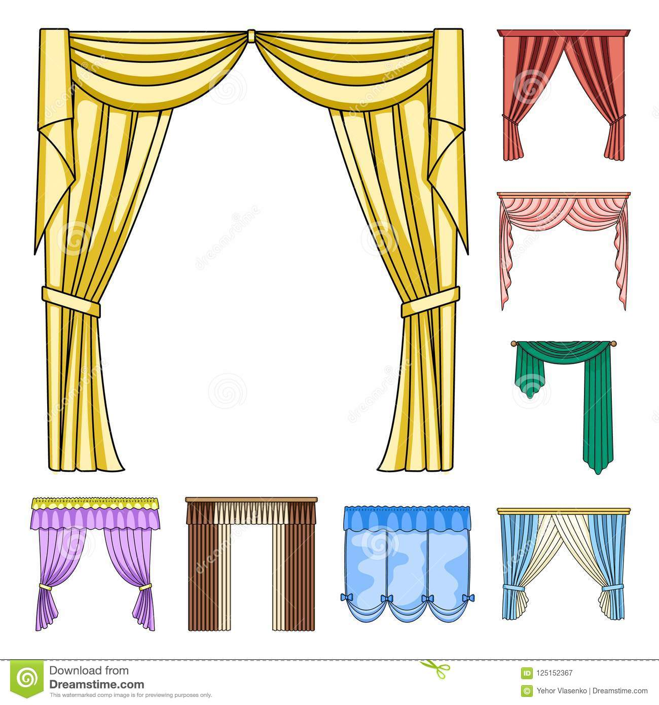 What is the drapery of curtains and lambrequins