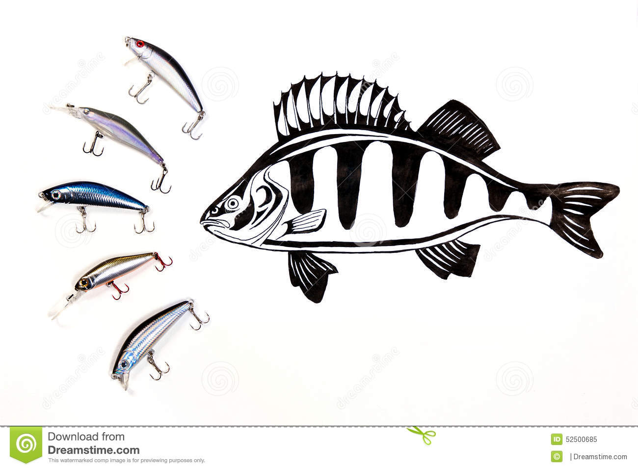 Different Kinds Of The Fishing Plastic Baits With Ink ...