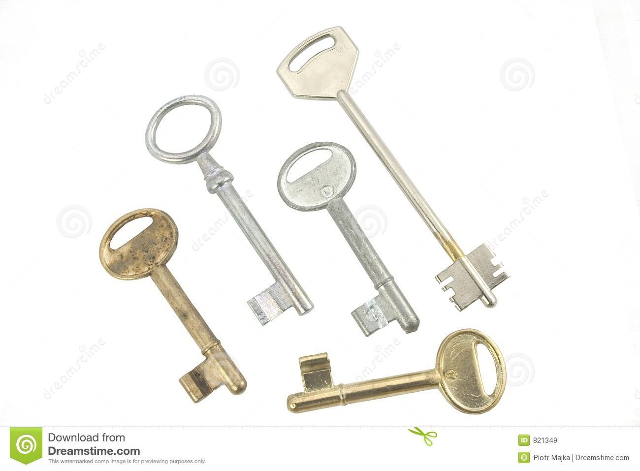 Different Kinds Of Keys Royalty Free Stock Images Image