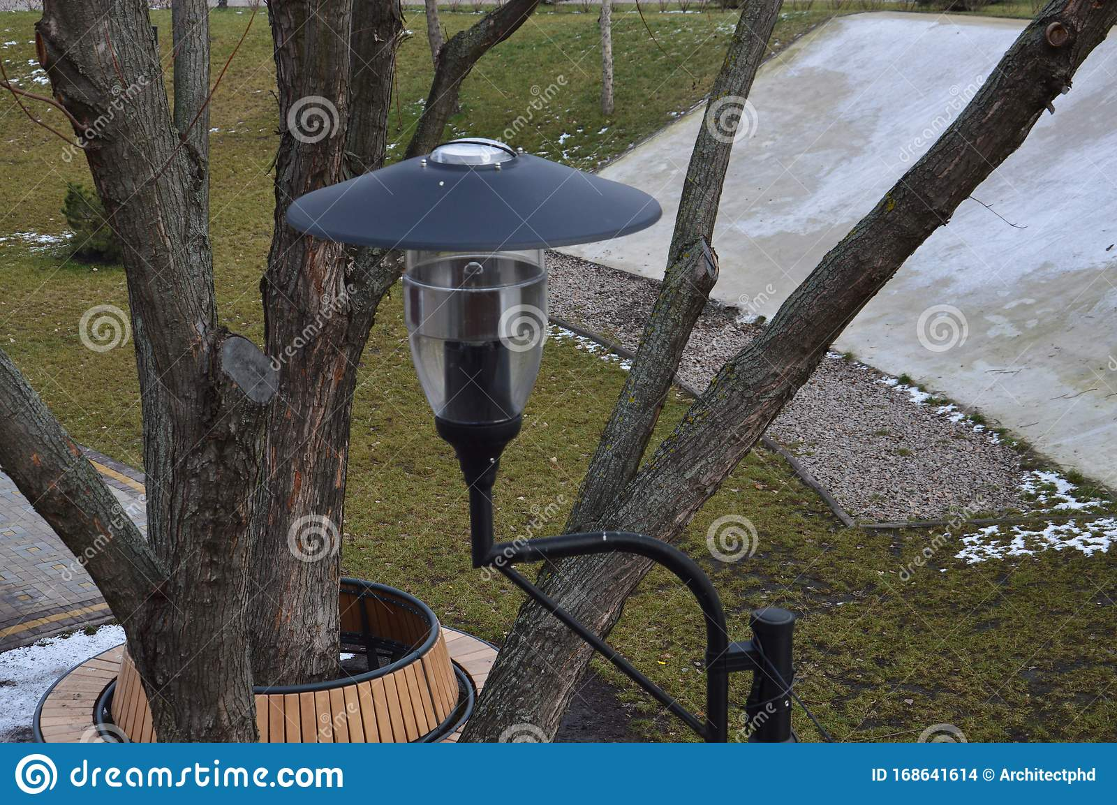 Different Lanterns Stand In The Park Stock Photo Image Of Outdoor Lantern 168641614