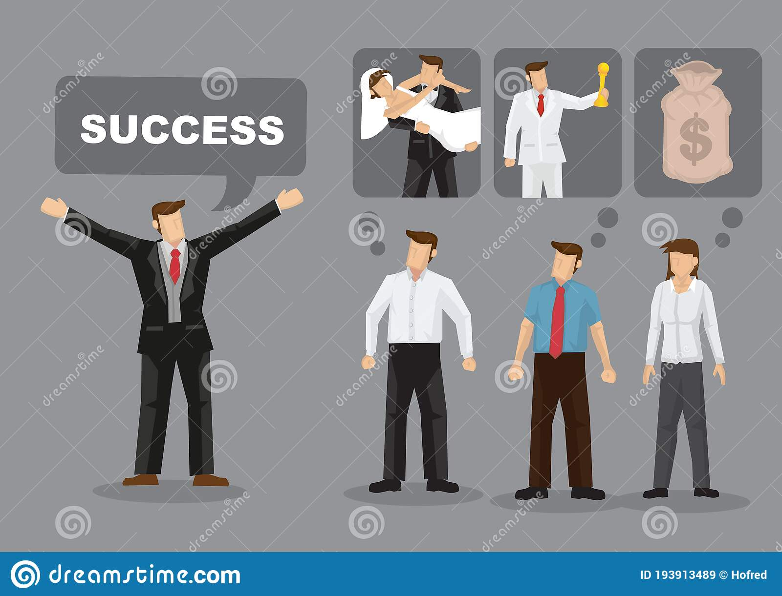 Different Meanings For Success Cartoon Vector Illustration Stock Vector Illustration Of Aspiration Drawing 193913489