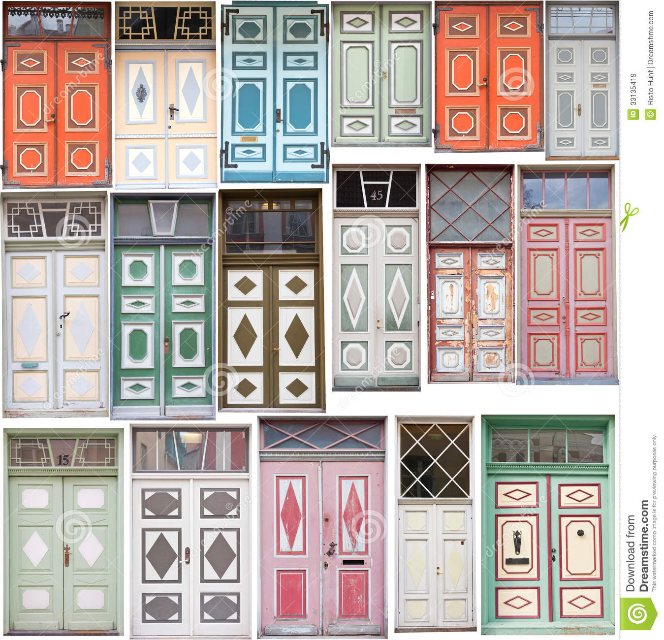 Different Old Style Doors Stock Image Image Of Detail