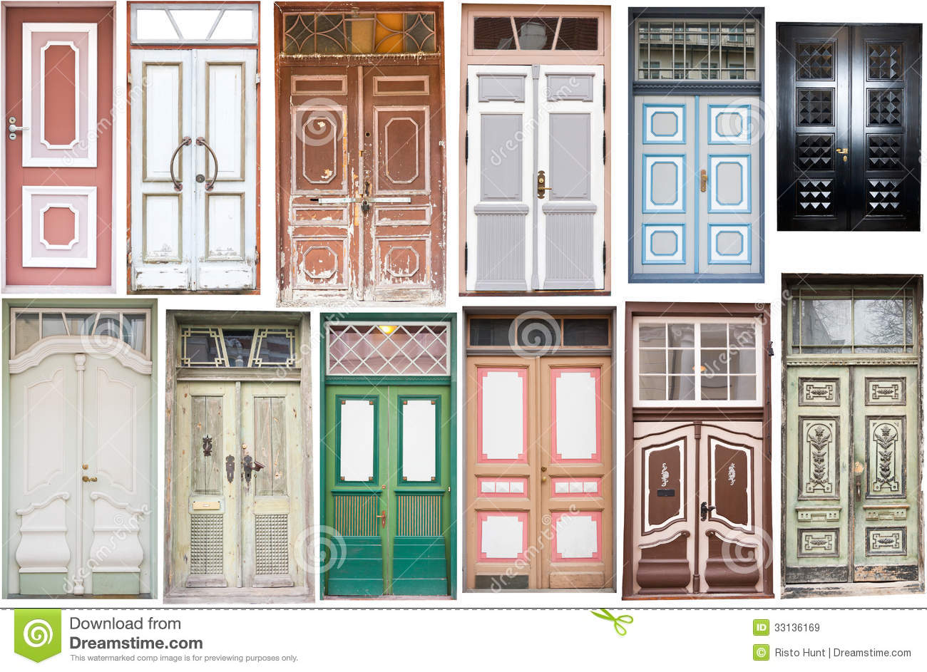 Different Old Style Doors Stock Image Image Of Wood 33136169