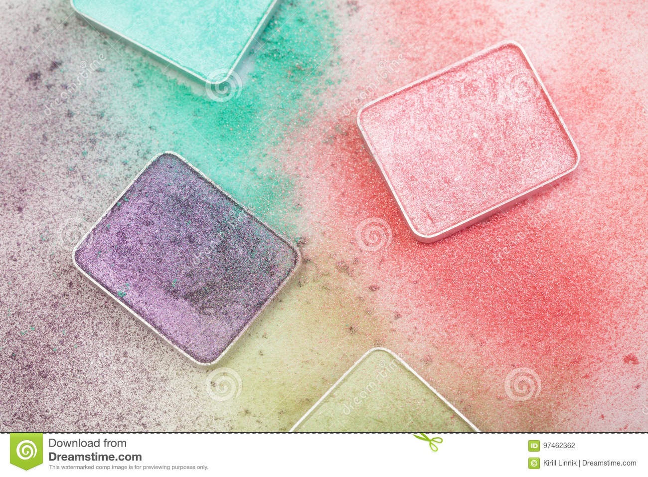 Download Different Palletes For Make-up Stock Photo - Image of crumb, fashion: 97462362