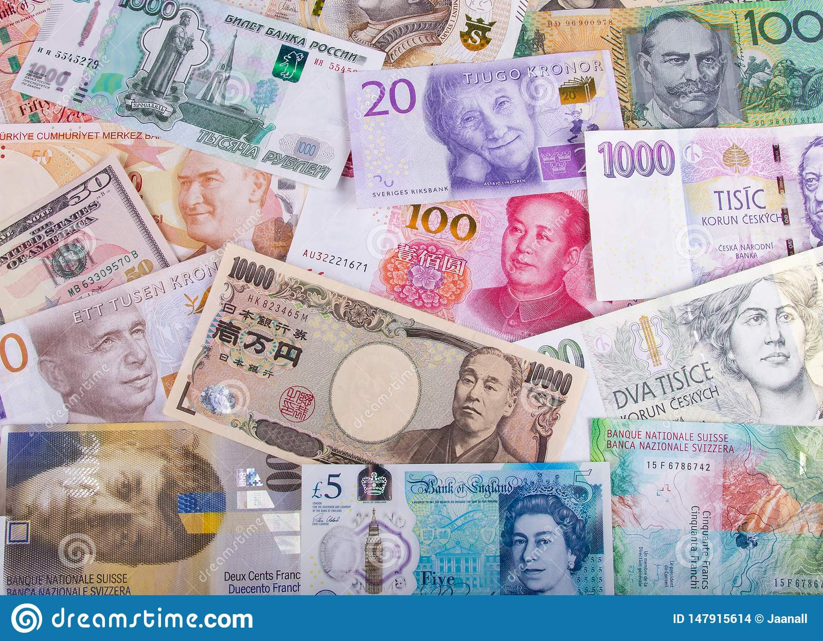 Different Paper Currencies From Around The World Editorial Stock Image Image Of Currencies Finland 147915614