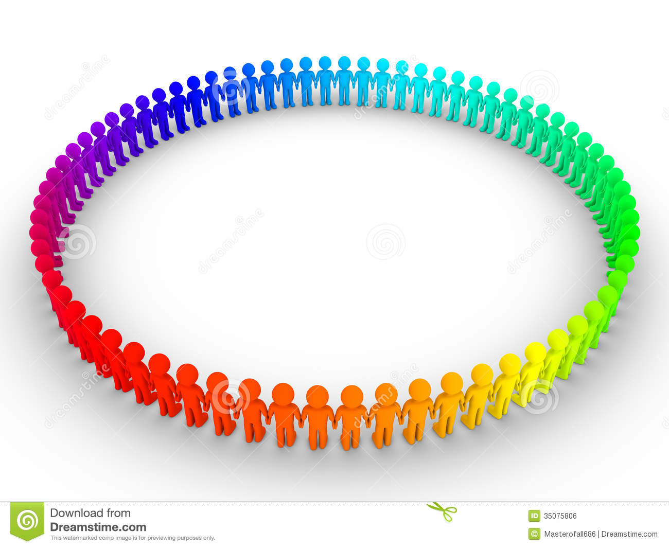 Different People Form A Big Circle Royalty Free Stock Image ...