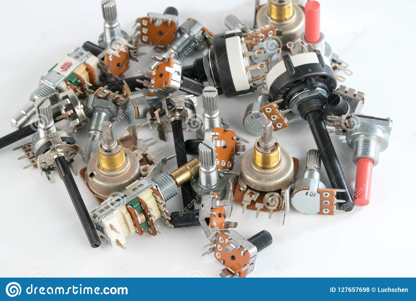 Different Radio Electronic Components Stock Photo - Image of