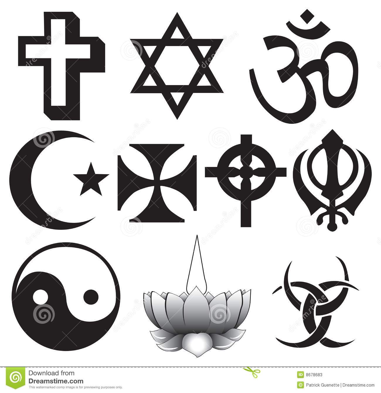 Different Religions Symbols Stock Photos Image 8678683