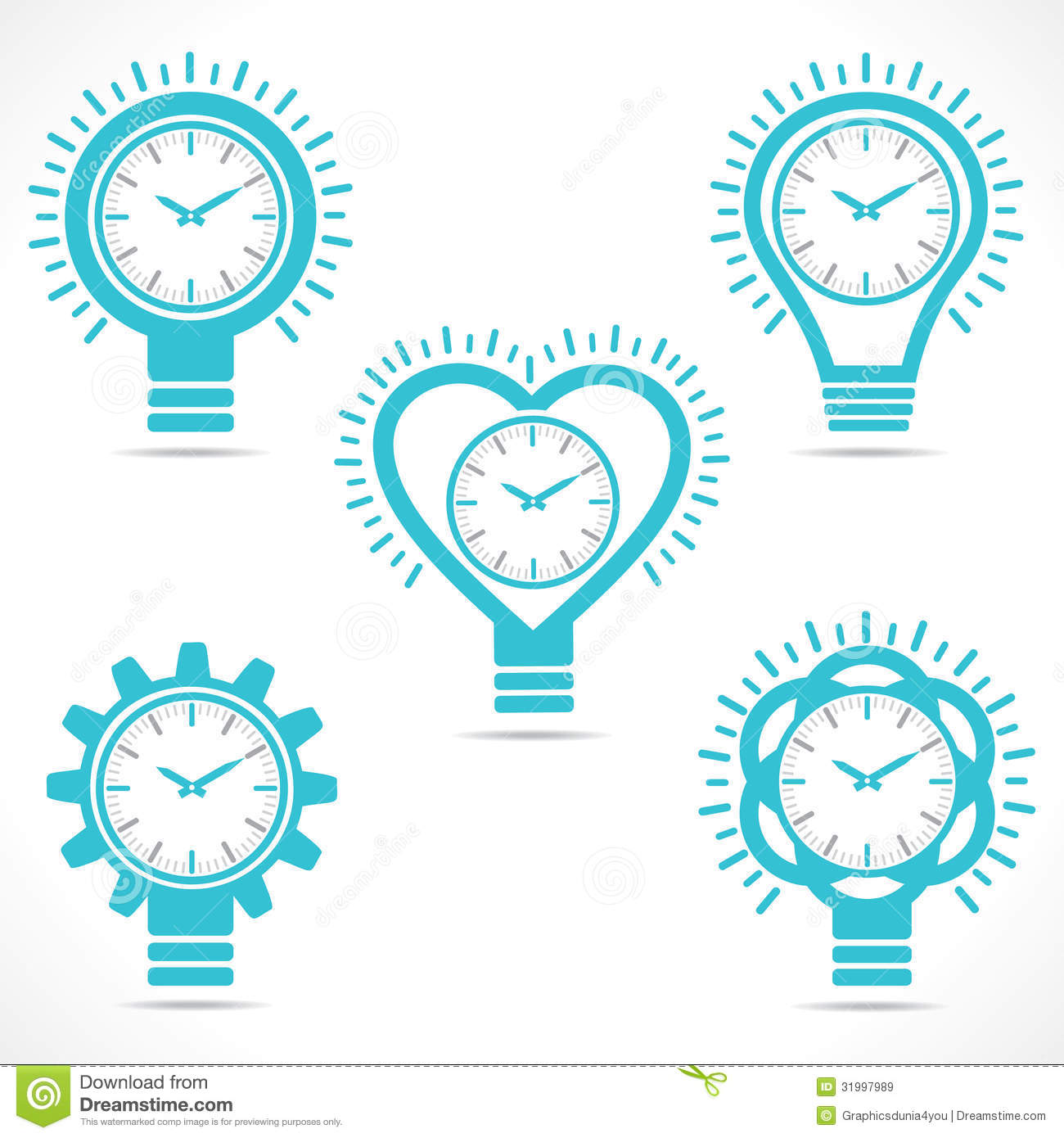 Different Shape Clock Royalty Free Stock Images Image