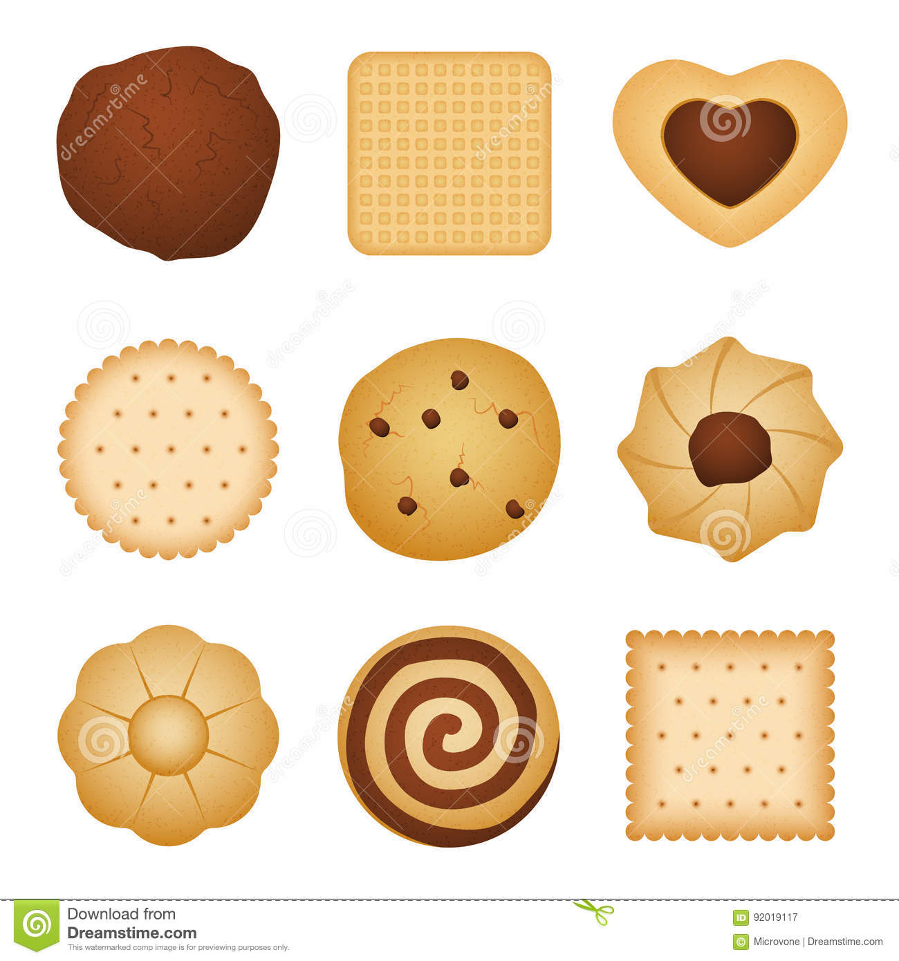 Different Shapes Of Eating Biscuit Home Made Cookies, Food