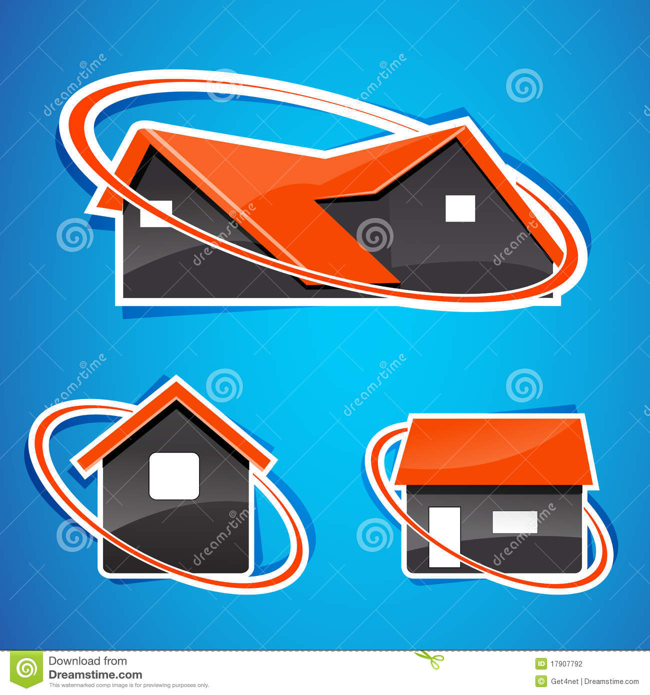 Different shapes of homes stock photography image 17907792 for Different shapes of houses