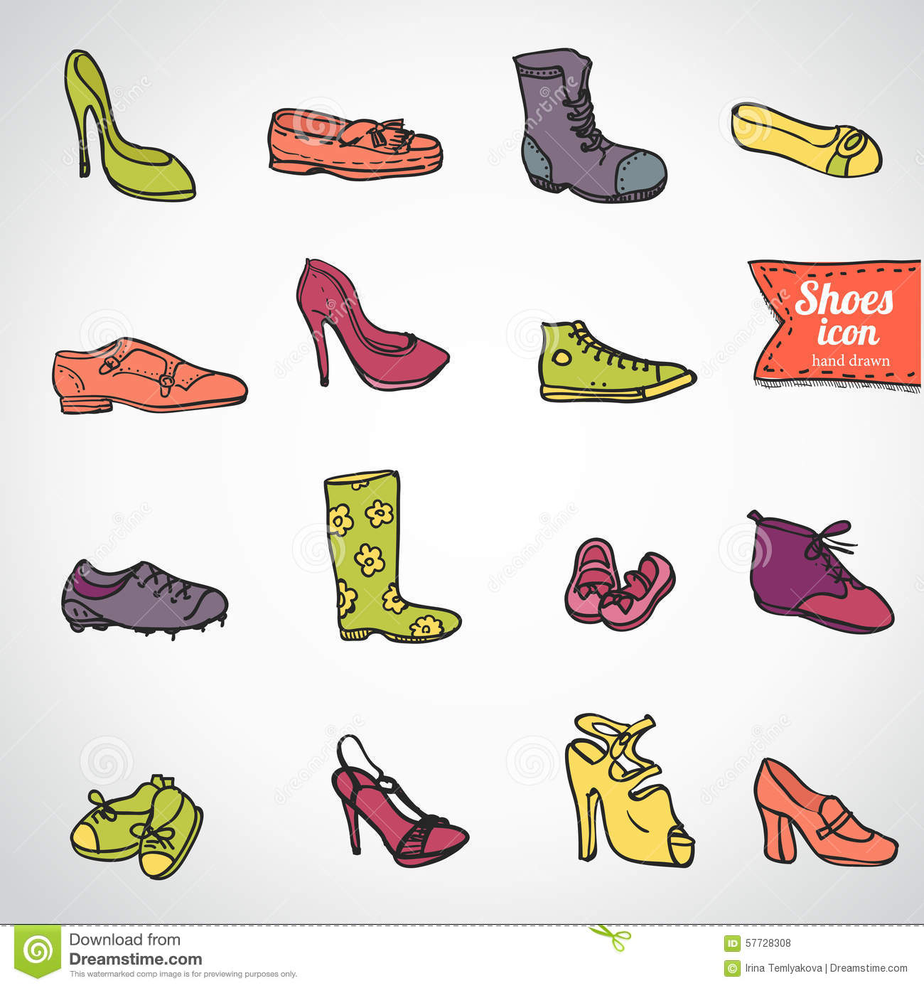 Shoe Collection Womens Cartoon