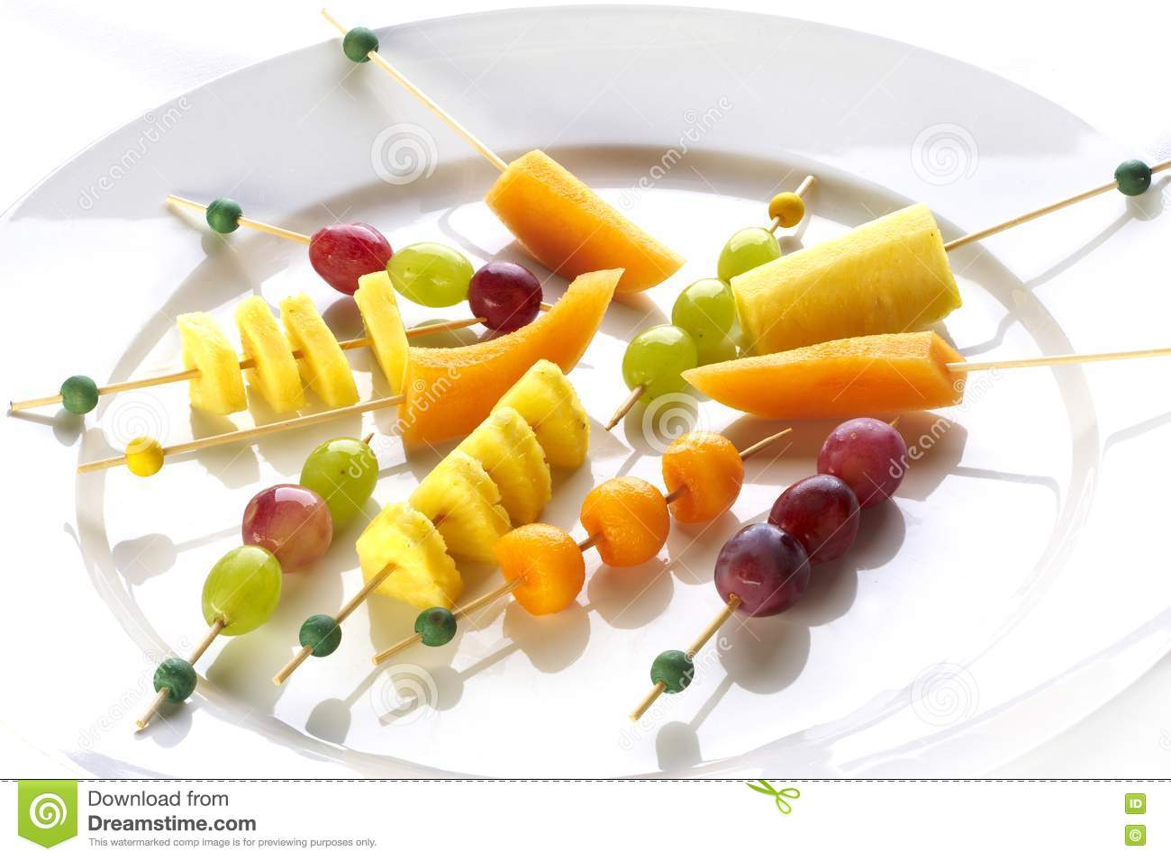 Different sort of fruit canape royalty free stock for Canape software