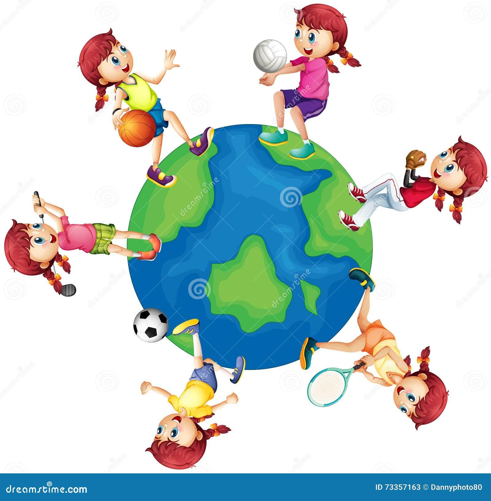 sports around different wereld sporten verschillende rond