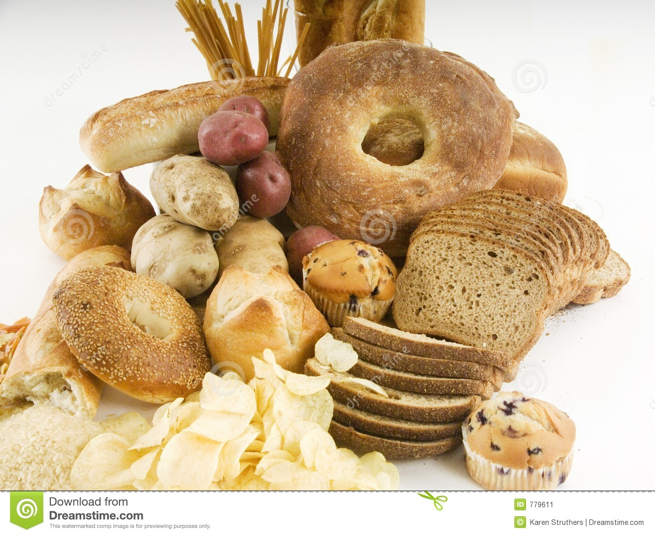 Different starchy foods