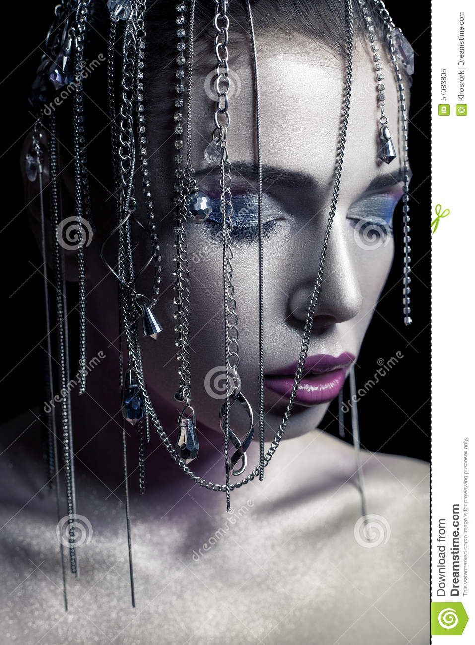 Accessories, Jewelry. Glamour Fashion Beauty Model Stock ...