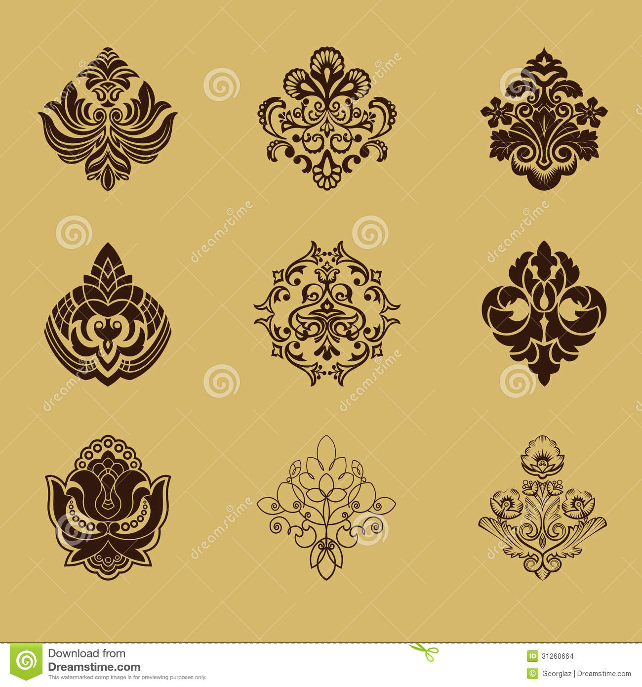 Different Style Design Elements Stock Images Image 31260664