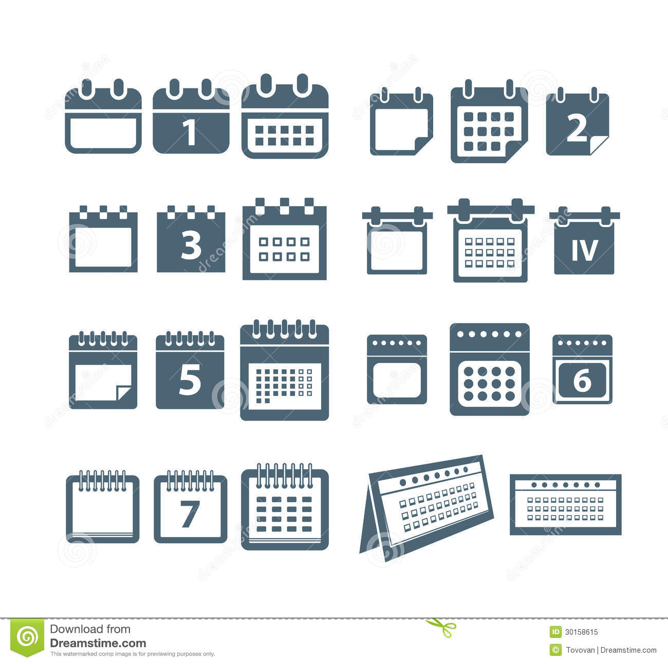 Calendar Web Icon : Calendar web icons collection royalty free stock photo