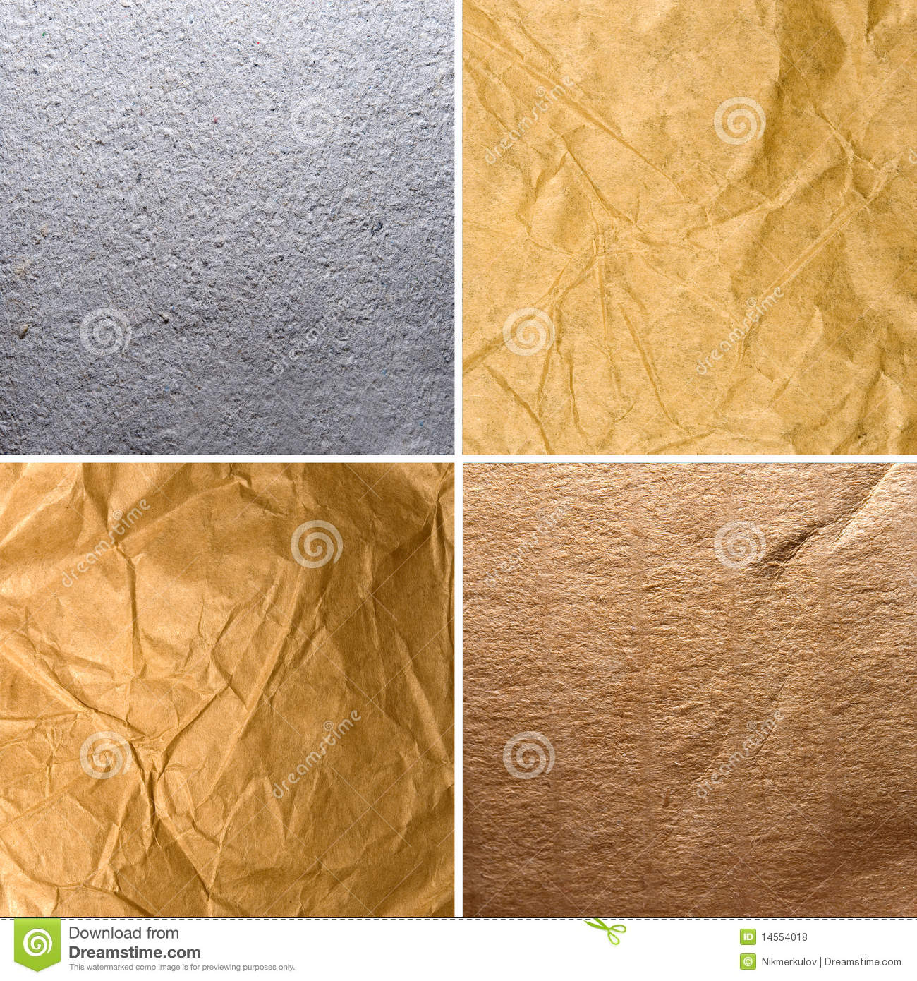 Different Textures Of Old Paper Stock Photo Image Of