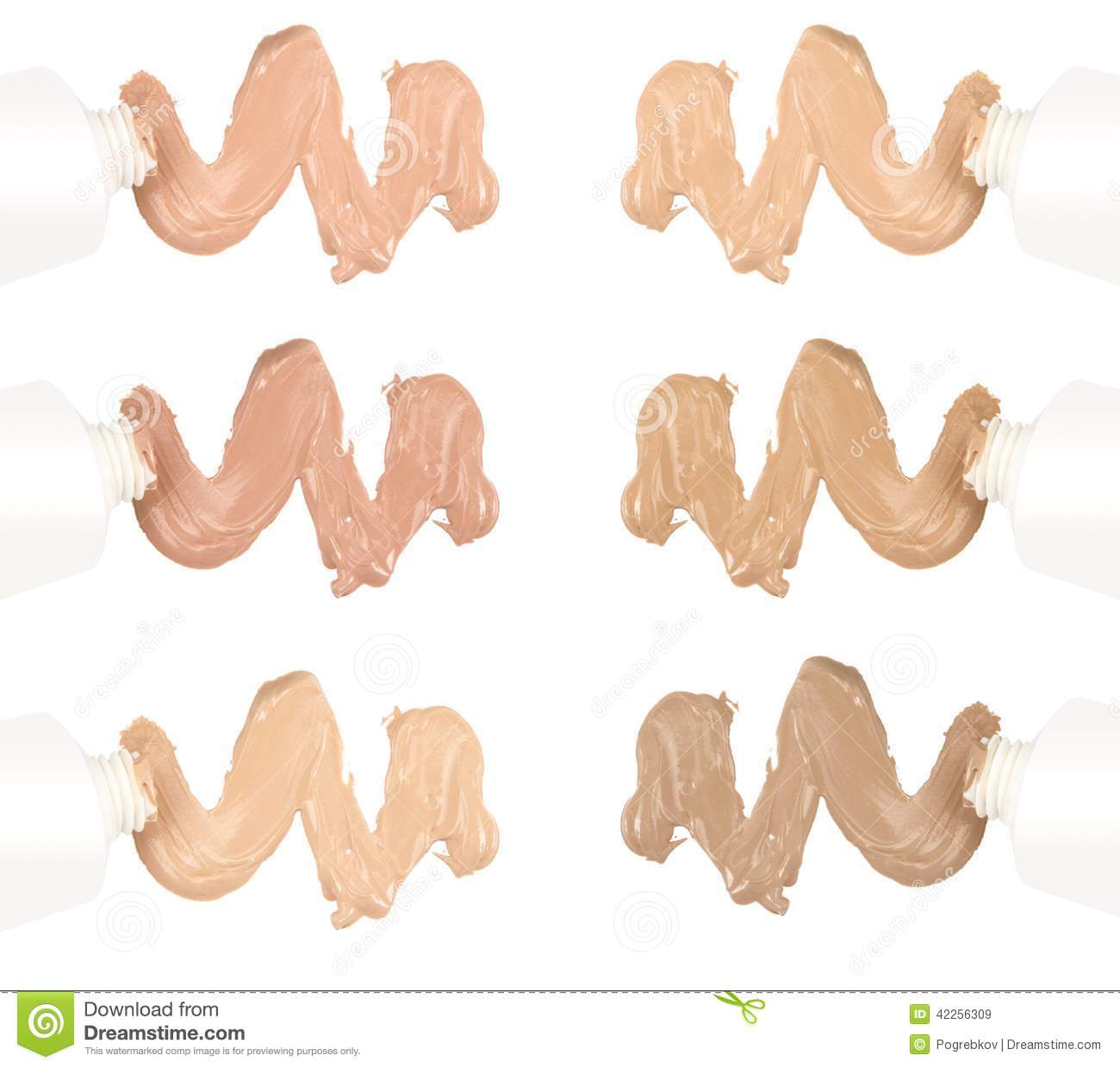 Different tones of foundation stock photo image 42256309 for Different foundations