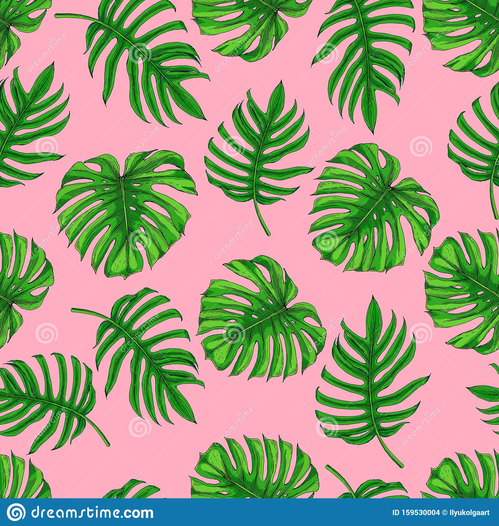 Different Tropical Leaves On A Pink Background Stock Illustration Illustration Of Branch Pink 159530004 Download the perfect tropical leaves pictures. https www dreamstime com different tropical leaves pink background seamless pattern image palm bright individual green emerald monster image159530004